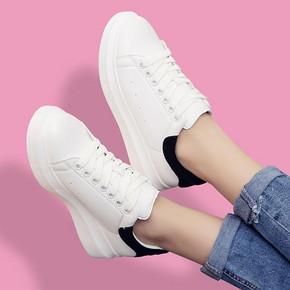 百搭神器# CGC 韩版厚底休闲小白鞋 49元包邮