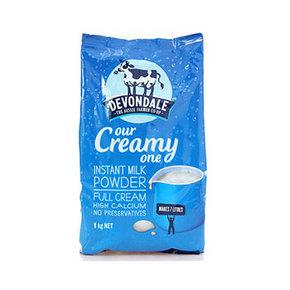 澳洲进口Devondale 德运 全脂成人奶粉 1kg 折27.9元(49.9,199-100+税)