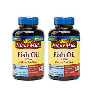 老年人保健# Nature Made 深海鱼油软胶囊 100粒*2瓶 81.2元包邮(89-18券+10.6)