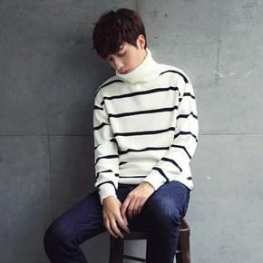反季好价# 尼哲思 韩版男款高领针织套头毛衣 19元包邮(69-50券)