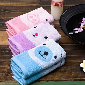前1分钟半价# 洁丽雅 纯棉儿童毛巾单条装 0点 2.5元包邮(5-2.5)