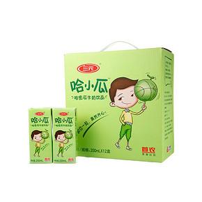 三元 哈小瓜 哈密瓜牛奶饮品 200ml*12盒 折25.7元(39,99-40)