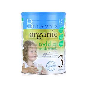 贝拉米 有机婴儿奶粉 3段 900g*3罐 477.4元包邮(474-47.4+50.8)