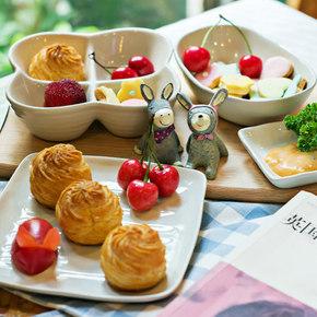白菜价# zaka 陶瓷早餐点心碟子 4.5元包邮