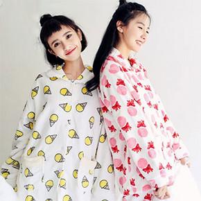 dahuahome 韩版珊瑚绒睡衣套装  39.9元包邮(69.9-30券)
