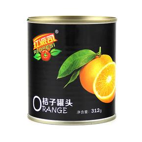 前5分钟立减# 红派司 水果罐头 312g*6 22点 24.8元包邮(29.8-5)