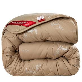 反季好价# 俏精灵 冬季加厚保暖羊毛被 59元包邮(69-10券)