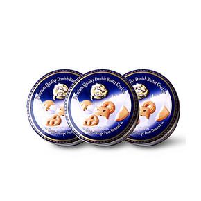 前30秒半价# 铁罐装曲奇饼干150g*3罐 18.5元包邮(36.9-18.4)