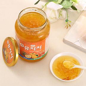 前1分钟半价# 进口农协蜂蜜柚子茶 1kg*2罐 19.5元包邮(39-19.5)