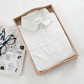 文艺范儿# 唯莳 纯色长袖白衬衫 19.9元包邮(24.9-5券)
