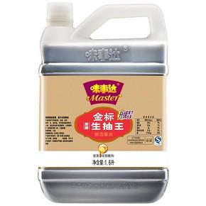 味事达 金标生抽王酿造酱油 1.6L 11.8元