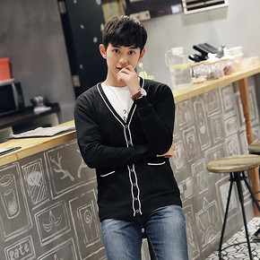 英伦风# 朗悦  韩版男款休闲针织衫  29元包邮(69-40券)