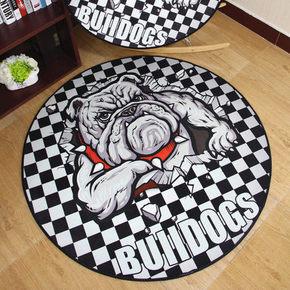 地毯也卖萌# 澳世奇 可爱萌宠圆形地毯 9.9元包邮(19.9-10券)