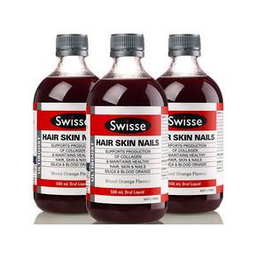 Swisse 胶原蛋白液 3瓶+澳佳宝 鱼油软胶囊200粒 286.6元(417+49.6-180)