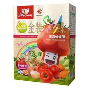 方广 宝宝辅食 金装彩蝶果蔬蝴蝶面 225g 19元