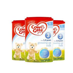 Cow&Gate 英国牛栏 婴幼儿奶粉 3段 900g*3罐 351.6元包邮(341-30+40.6)