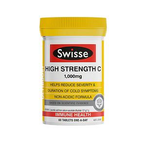 维C补起来# Swisse 高强度维生素C 1000mg*60片 折85.6元(109*3-130券+39)