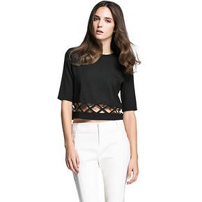 Vero Moda 女士几何镂空中袖短款T恤 102元包邮(112-10券)