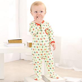 宝贝美衣# 乐儿佳 纯棉长袖包脚婴儿连体衣 19.9元包邮(59.9-40券)