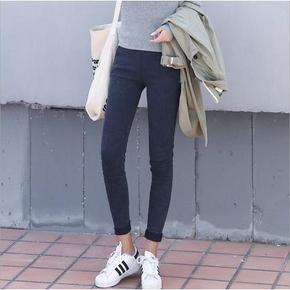 百搭显瘦# 江南女孩 紧身弹力黑色小脚裤 29元包邮
