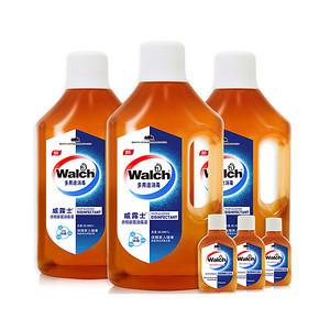 威露士 衣物家居除菌消毒液1L*3瓶+60ml*3瓶 26.5元包邮(52.9-26.4)
