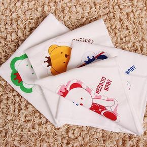 意婴堡 印花双层纯棉纱布口水巾 14条 19元包邮(29-10券)