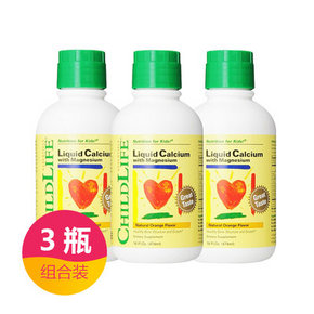 CHILDLIFE 童年时光 钙镁锌补充液 474ml*3瓶 214元包邮(229-15券)