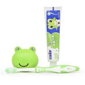 专为宝宝定制# 青蛙王子 儿童牙刷牙膏套装 2件 14.9元包邮(拍1发2)