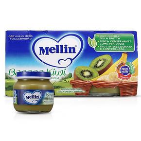 Mellin 美林 儿童混合水果果泥 香蕉奇异果 100g*2罐*2组 22元包邮(19.8+2.2)