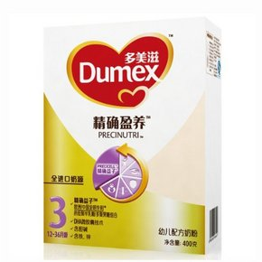 Dumex 多美滋 精确盈养 幼儿配方奶粉 3段 400g 34元
