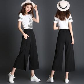 OL风格# LZQ 韩版休闲九分阔腿裤 26元包邮(56-30券)