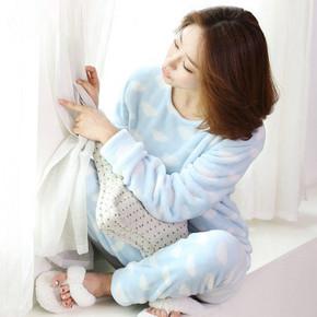 岩石草 女士可爱珊瑚绒套头睡衣套装 券后29.9元包邮