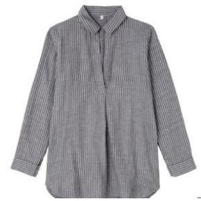 MUJI 无印良品 女款双层纱织棉布长上衣 129元