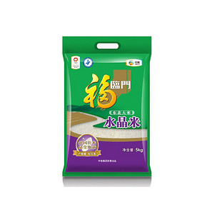 前5分钟# 福临门水晶米 5kg 24.9元包邮(29.9-5)