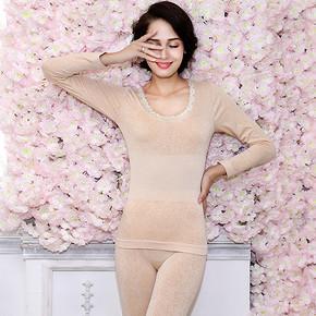 前5分钟# 梦娜品彩 塑身美体内衣套装 39.9元包邮(拍2付1)