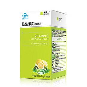 补充维C# Dr.Herbs 禾博士 维生素C咀嚼片 1g*100片 14.9元包邮(19.9-5券)