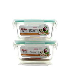 带饭更方便# 夸克 耐热玻璃饭盒  520ml*2个 22元包邮(27-5券)