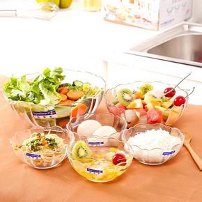 前10秒返半价# 乐美雅 钢化透明玻璃碗 6件套 27.5元包邮(55返27.5)