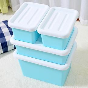 告别杂乱# 傲家 塑料整理收纳箱 4件套 39.9元包邮(44.9-5券)