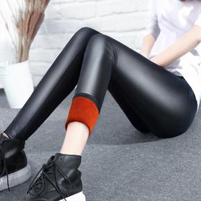 一条过冬# 唐女 加绒加厚仿皮打底裤 19.5元包邮