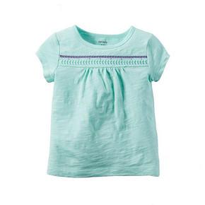 Carter's 宝宝蓝色刺绣短袖T恤 29元包邮