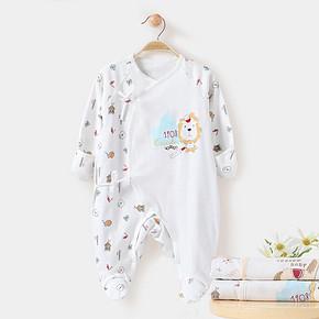 酷尾巴 春夏季纯棉婴儿连体衣0-3个月  19.9元包邮(39.9-20券)