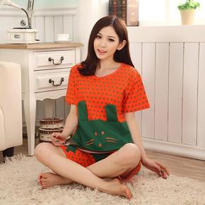 前20分钟# 金雅福 夏季棉质短袖家居服套装 19.9元(28.8-8.9)
