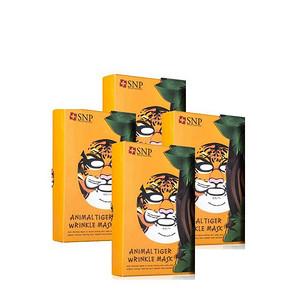 萌萌哒# 韩国 SNP动物面膜系列 老虎款 10片*4盒  232元包邮