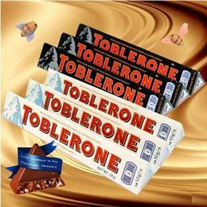 TOBLERONE 瑞士三角 白巧克力50g*2+黑巧克力50g*1 19.9元包邮