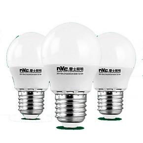秒杀预告# 雷士照明 LED高亮节能球泡3W 20点 1元包邮(库存2500+)