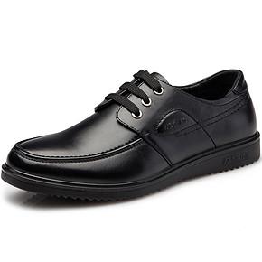 绅士鞋履# 奥康 真皮商务低帮皮鞋   169元包邮