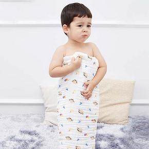 婴儿专用# 咔咘奇诺 婴儿超柔吸水纯棉浴巾*3件 60元包邮(40*3-60)
