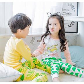超多花色# 小米皮 男女童春秋纯棉睡衣套装 19.8元包邮