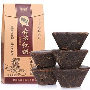 香冠 纯手工土红糖黑糖块 400g 9.8元包邮(29.8-20券)
